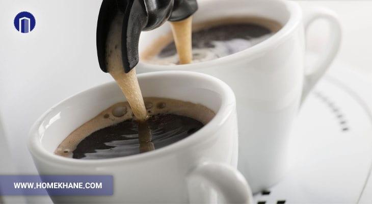 جوشیدن قهوه در قهوه ساز