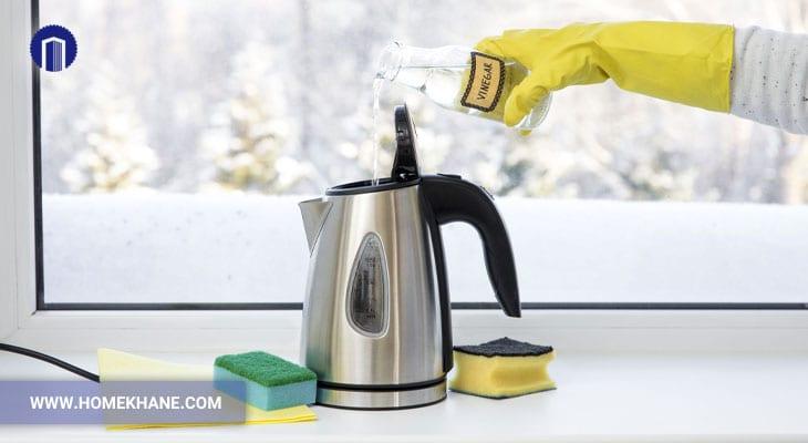 نحوه رسوب زدایی چای ساز در منزل با چند ترفند ساده