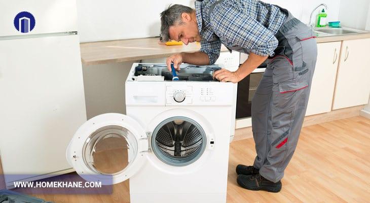 علت برق داشتن بدنه ماشین لباسشویی