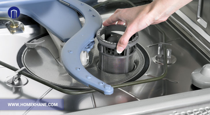 علت تخلیه نشدن آب ماشین ظرفشویی