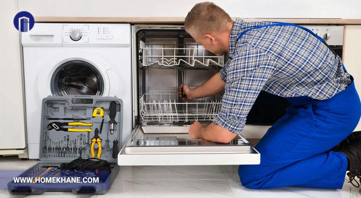 علت نشتی آب از ماشین ظرفشویی