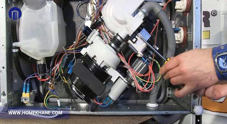 عیب یابی شیر برقی ماشین ظرفشویی